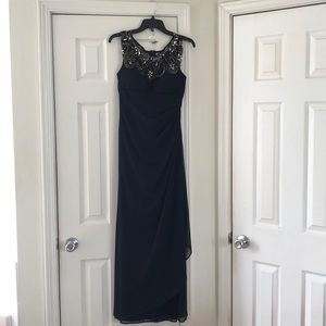 EUC Size 8 Xscape Midnight Blue Gown